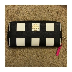 Kate Spade black and white checkered Wallet